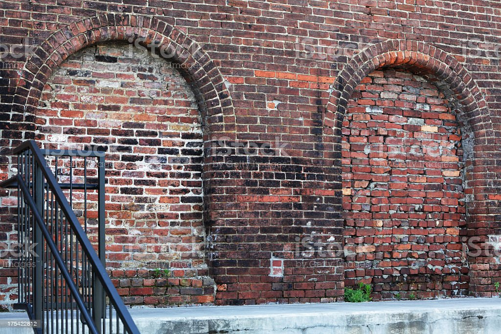 Old Red Brick Factory Loading Dock royalty-free stock photo