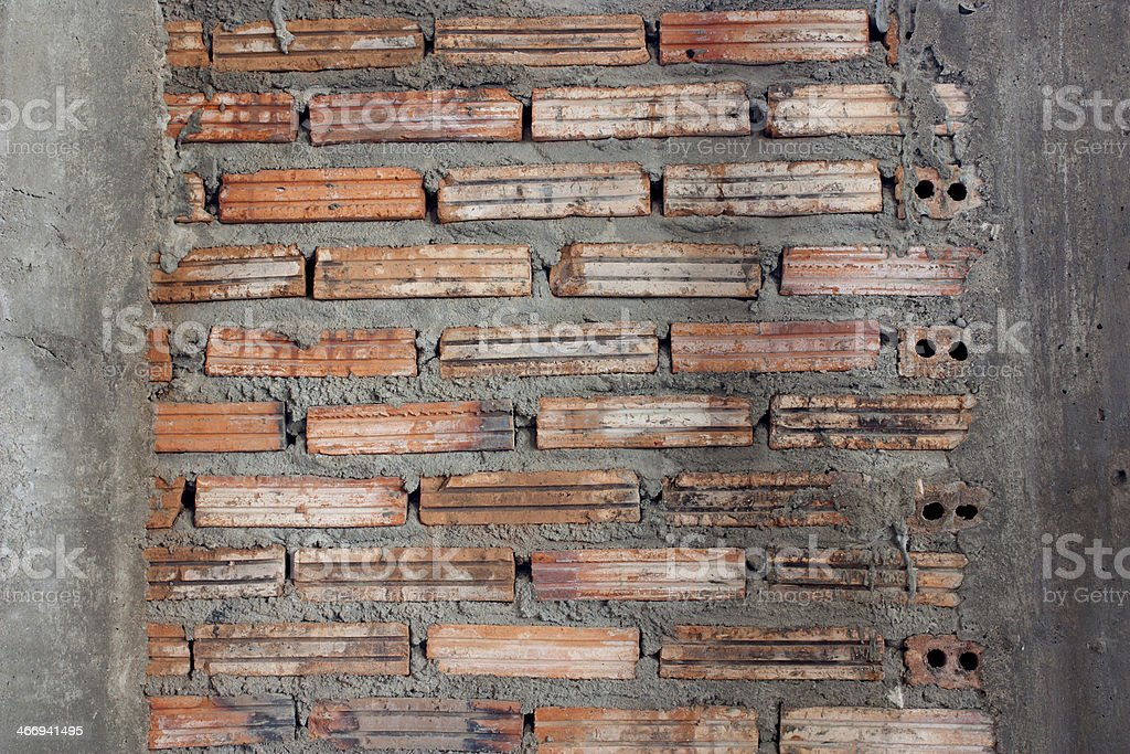 Old red brick wall. royalty-free stock photo
