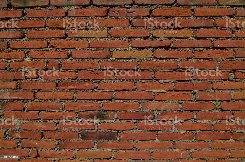 Old Red Brick Wall stock photo
