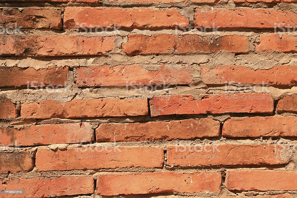 old red brick wall texture. royalty-free stock photo