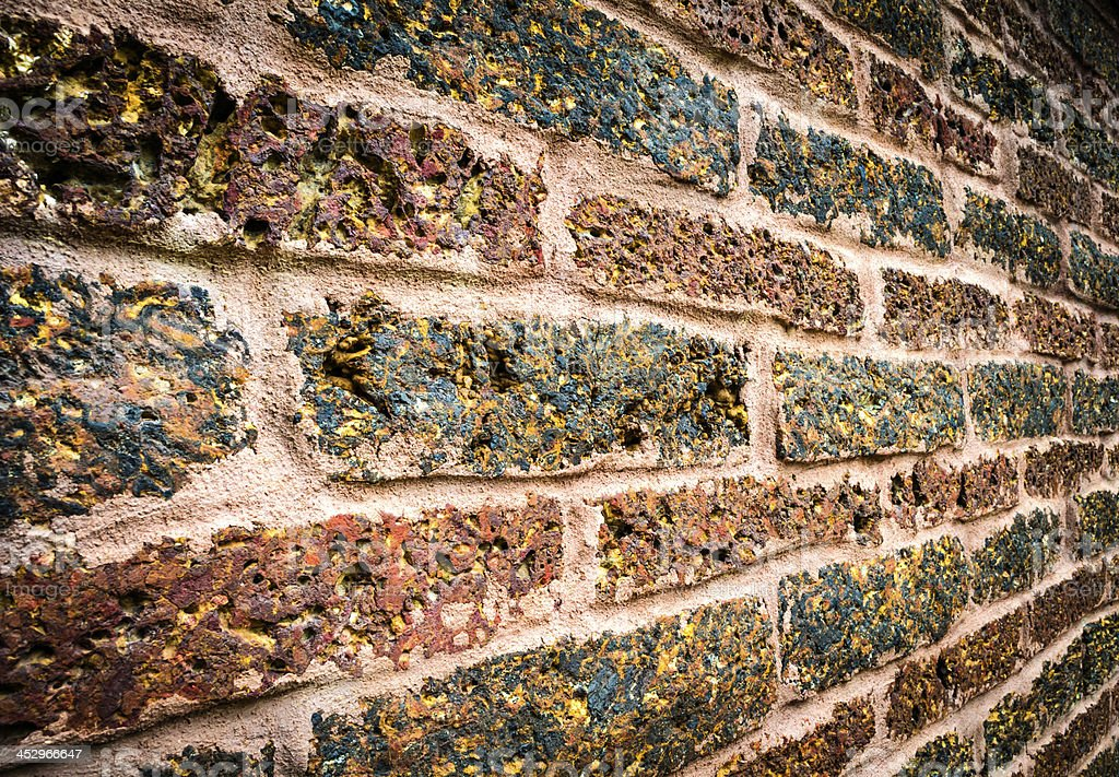 old red brick wall texture royalty-free stock photo