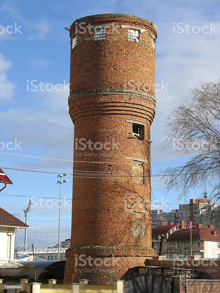 Antigo tijolo Torre d'água foto de stock royalty-free