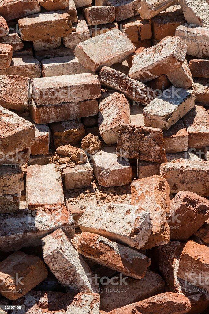 Old Red Bricks stock photo