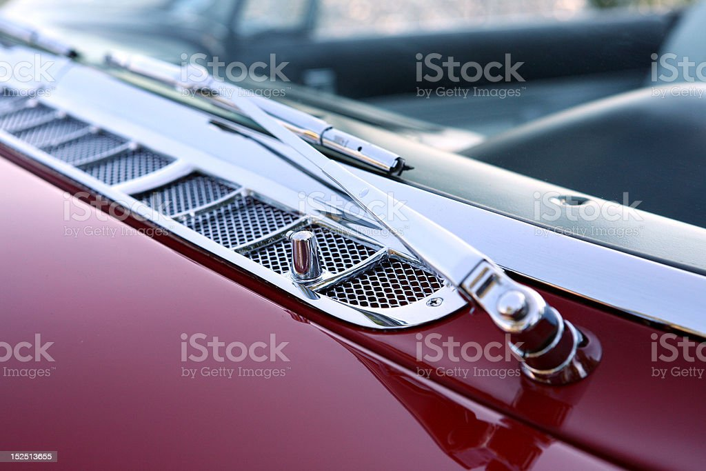 Old Red Car Close-Up royalty-free stock photo