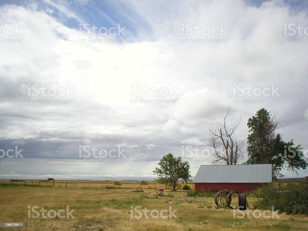 Old Red Chicken house royalty-free stock photo