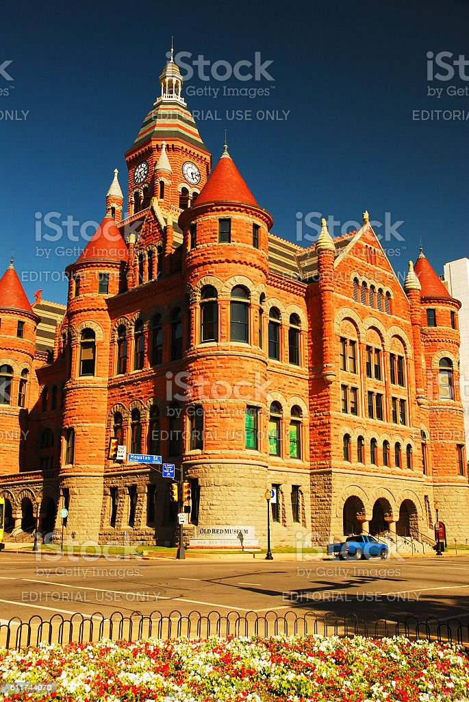 Old Red Courthouse Dallas Historical Museum stock photo