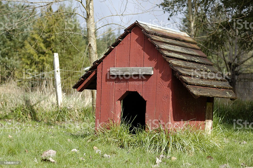 Old Red Dog House royalty-free stock photo