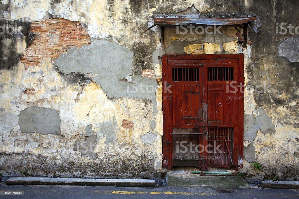 old red door georgetown penang royalty-free stock photo