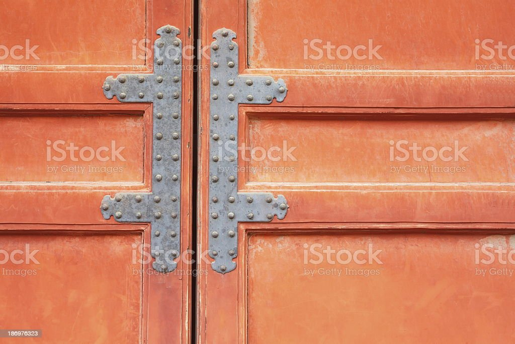 Old red door royalty-free stock photo