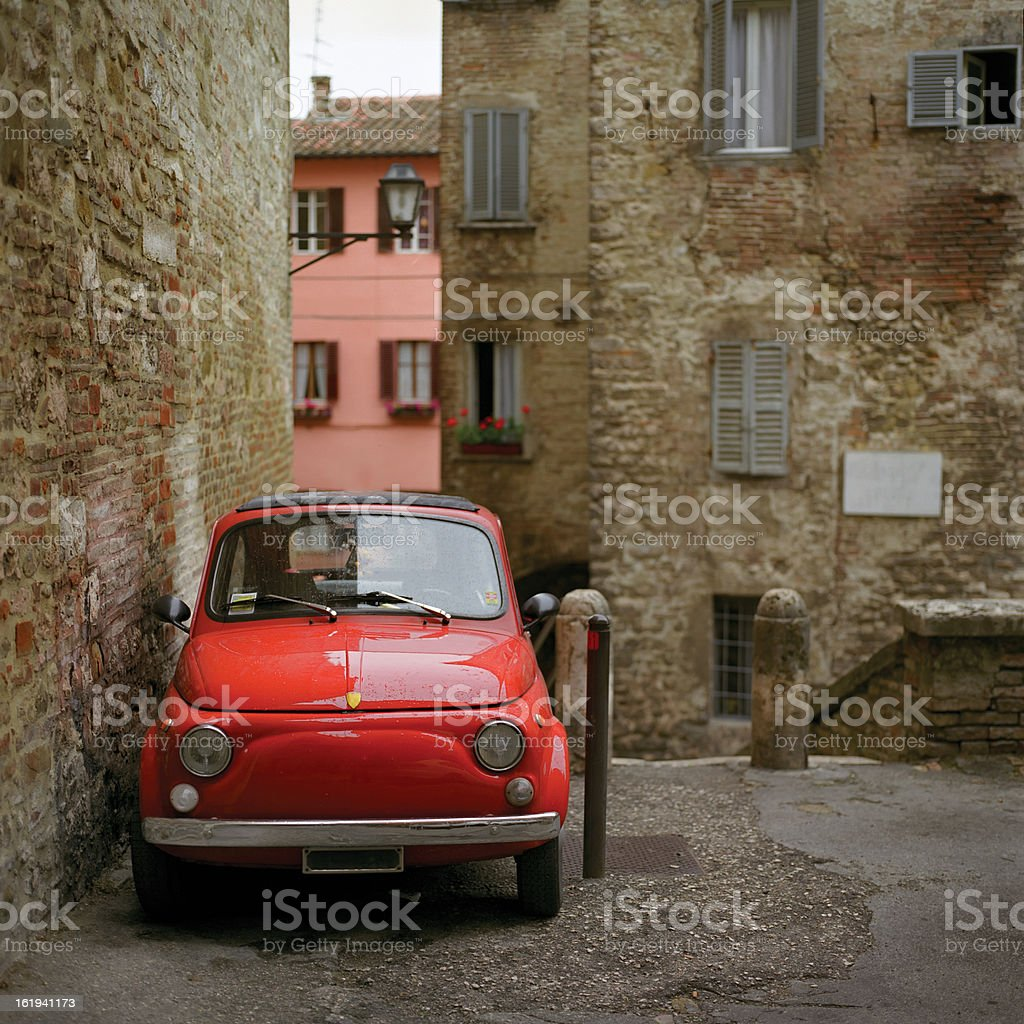 old red italian car royalty-free stock photo