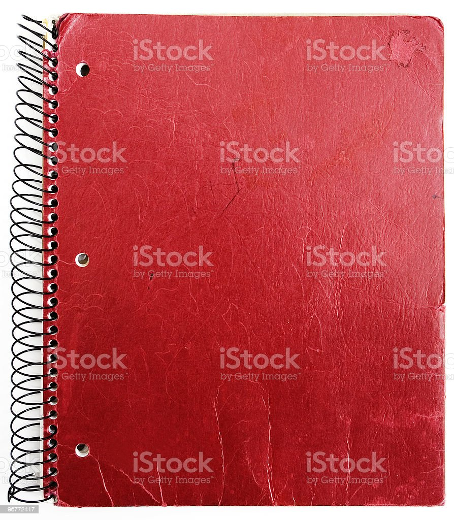old red notebook royalty-free stock photo