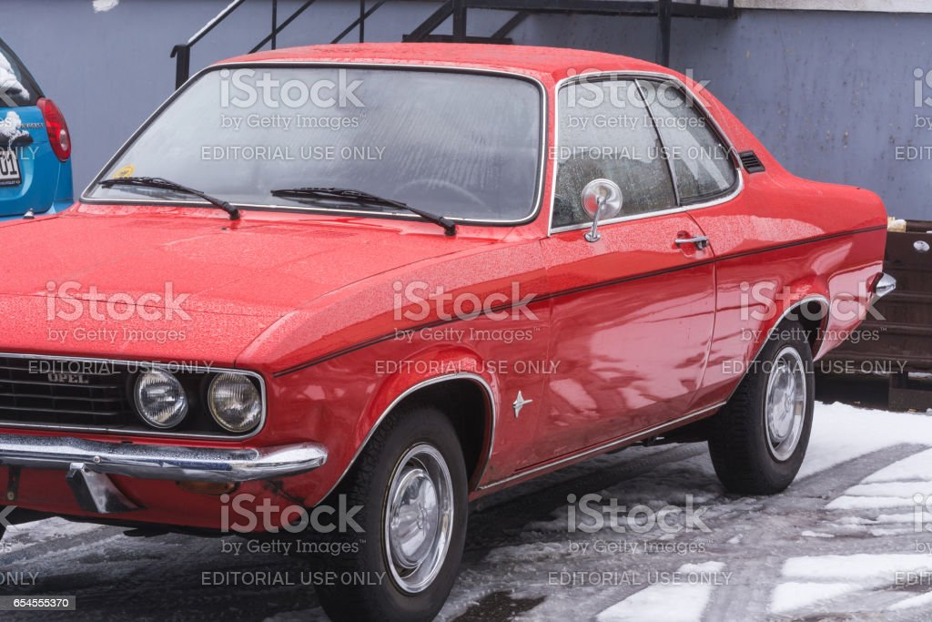 Alter roter Opel Manta stock photo