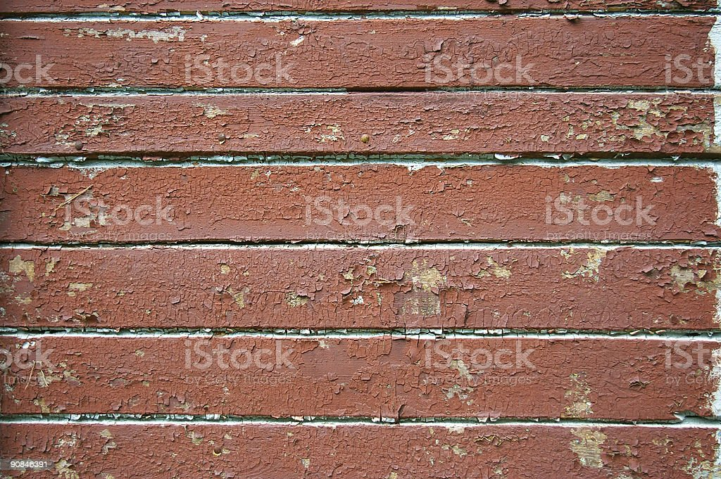 old red painted boards stock photo