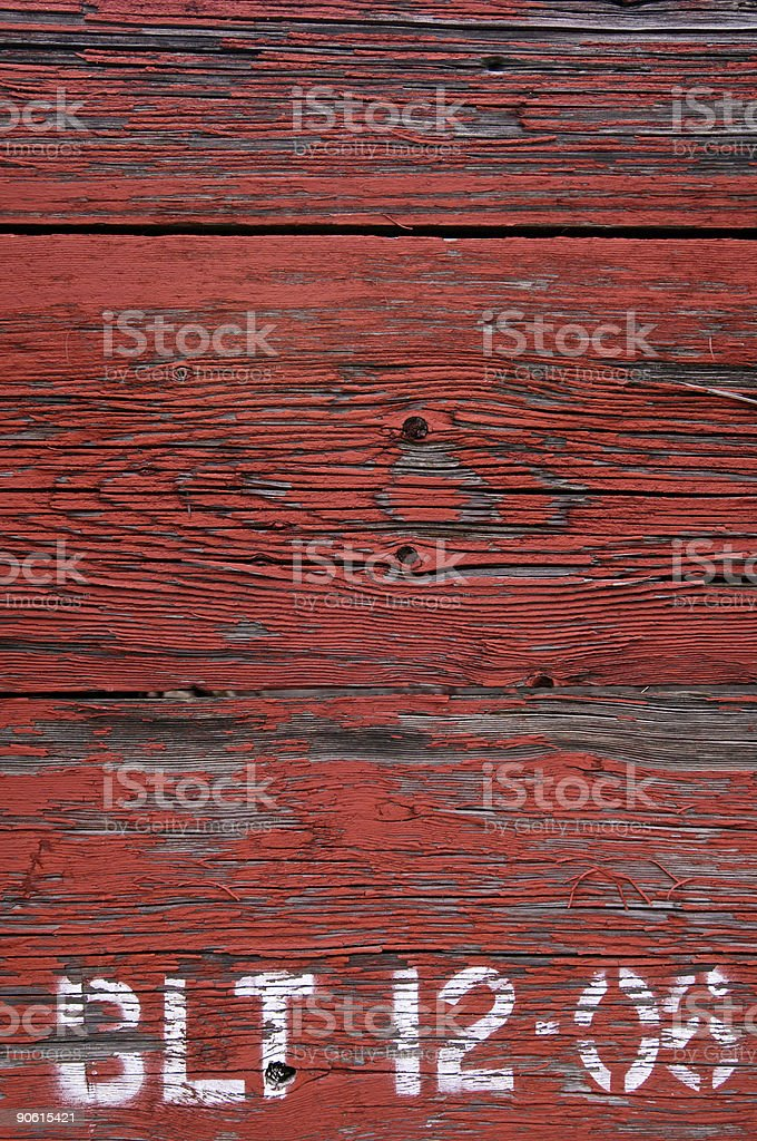Old Red Painted Weathered Caboose stock photo