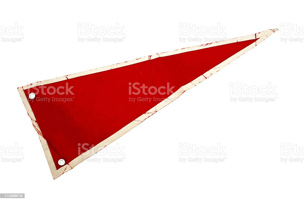 Old Red Pennant Or Pennon royalty-free stock photo