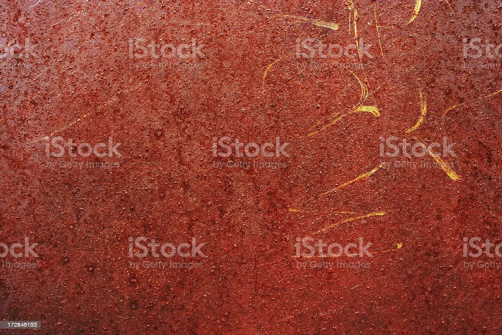 Old Red Rusty Metal Dumpster detail royalty-free stock photo