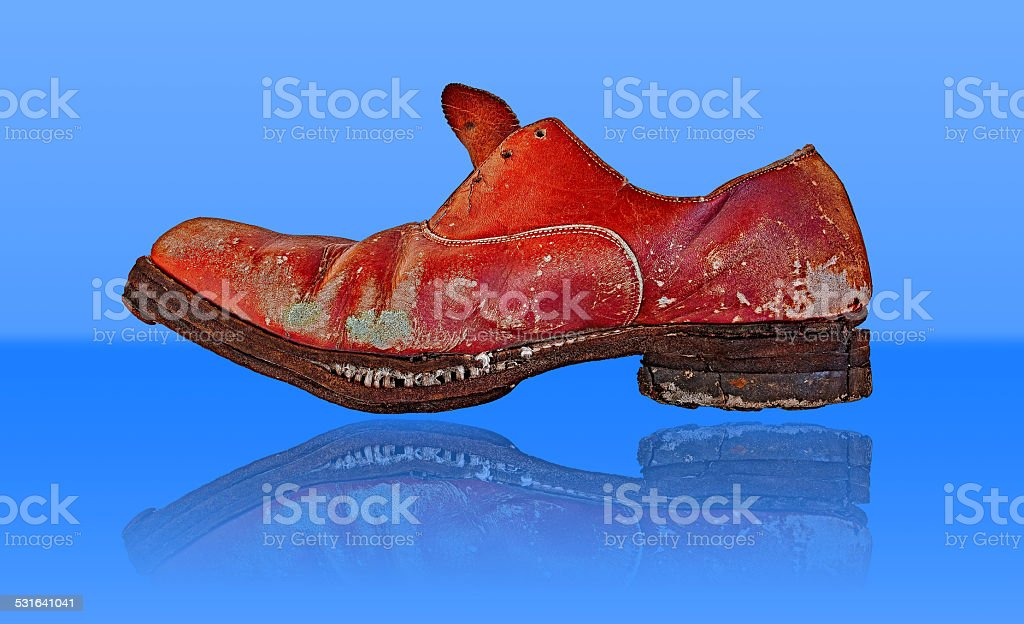 old red shoe royalty-free stock photo