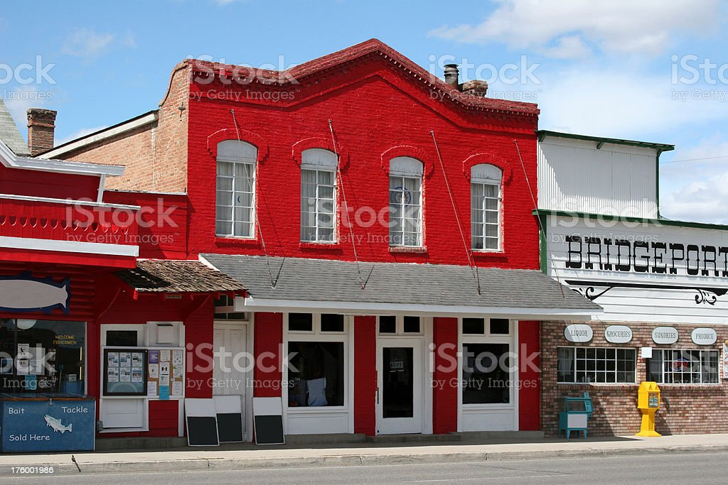 Old Red Store Front stock photo