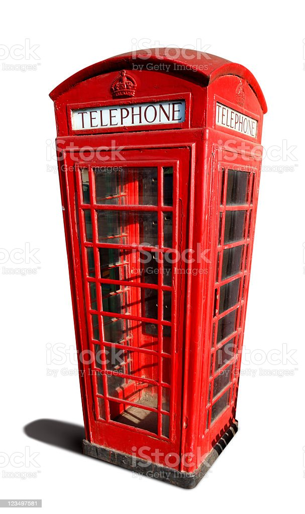 Old Red Telephone Booth royalty-free stock photo