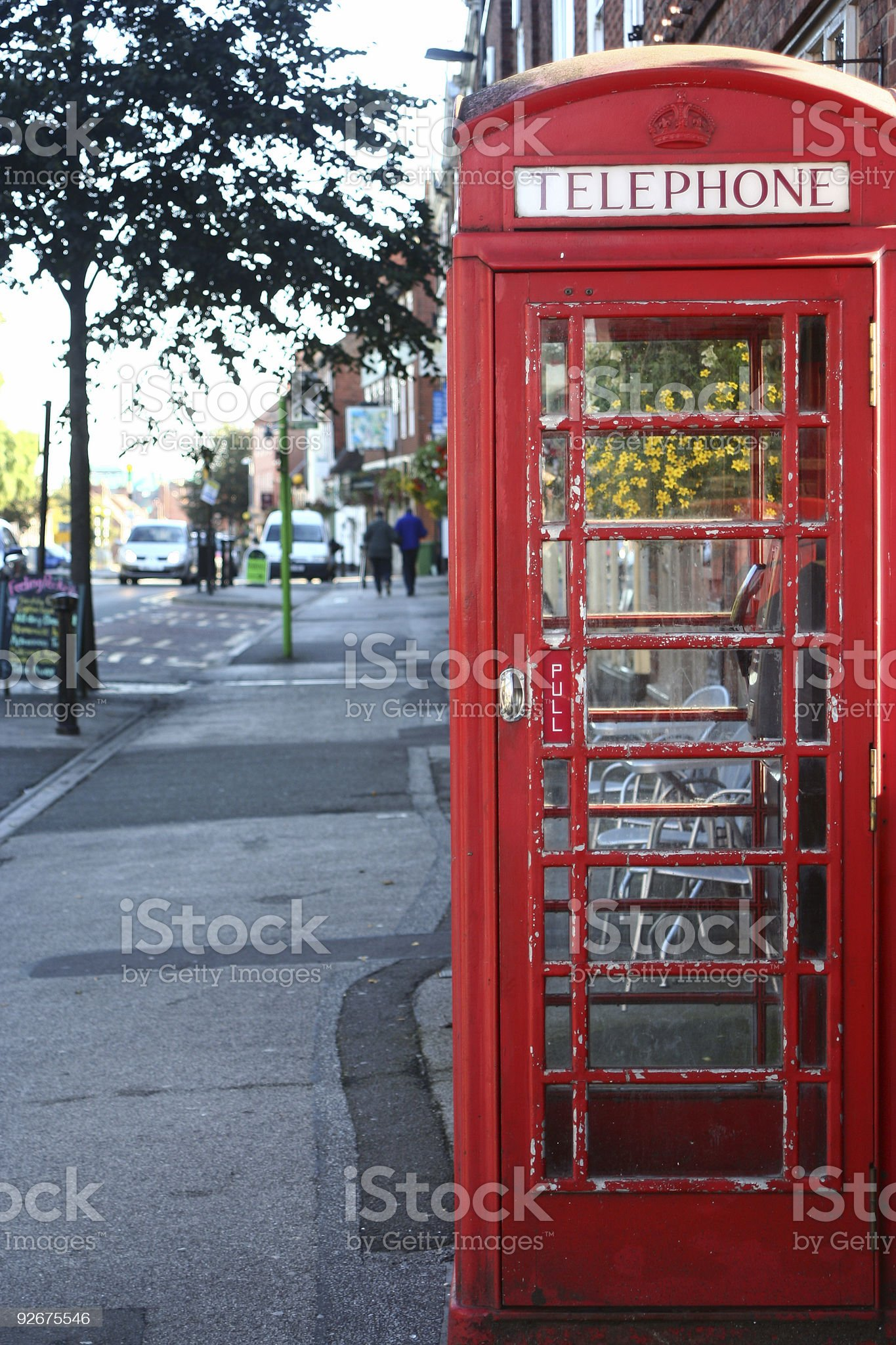 Old red telephone box royalty-free stock photo