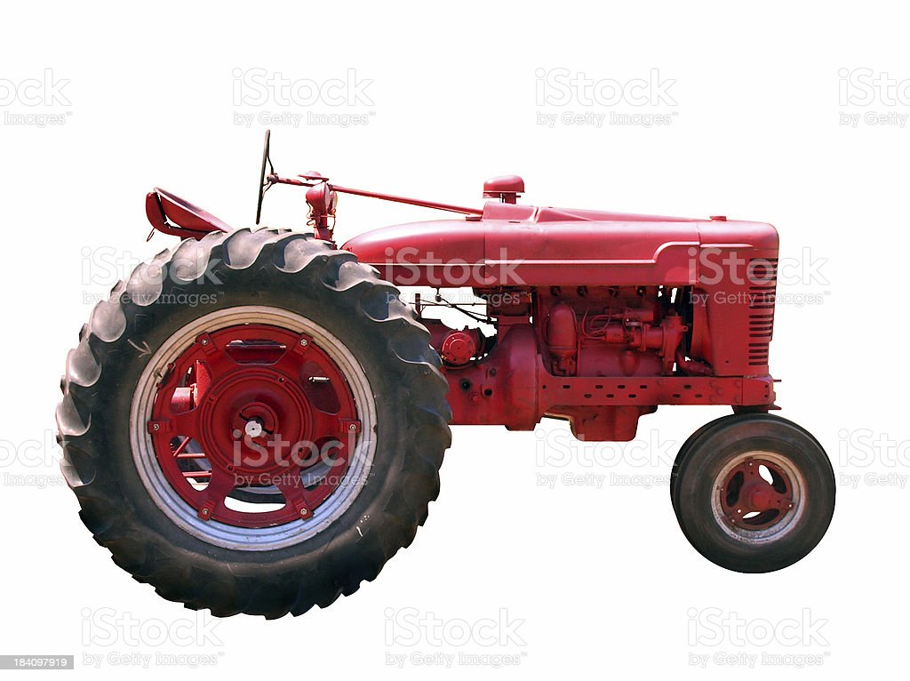 Old Red Tractor royalty-free stock photo