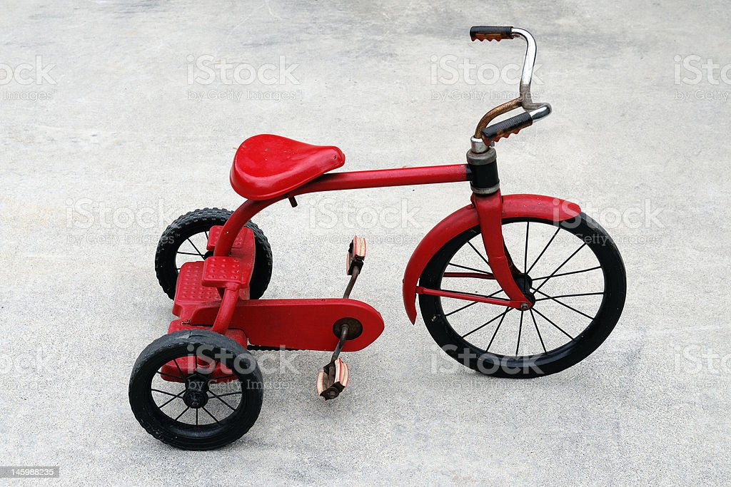 Old Red Tricycle royalty-free stock photo