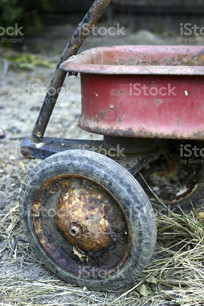 Old  Red Wagon royalty-free stock photo
