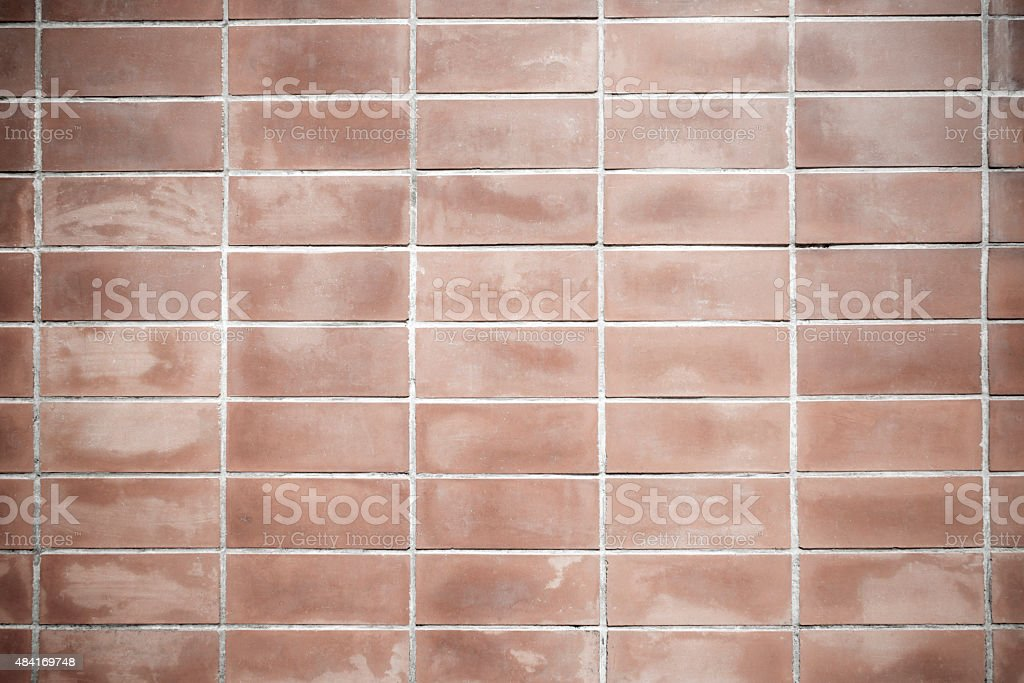 Old red wall with Square shape for background royalty-free stock photo