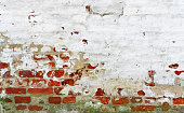 Old Red white brick wall Background.