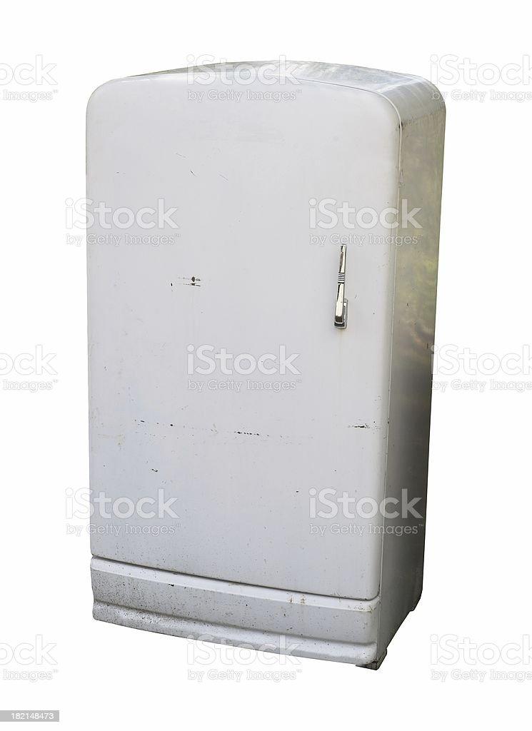 Old refrigerator stock photo