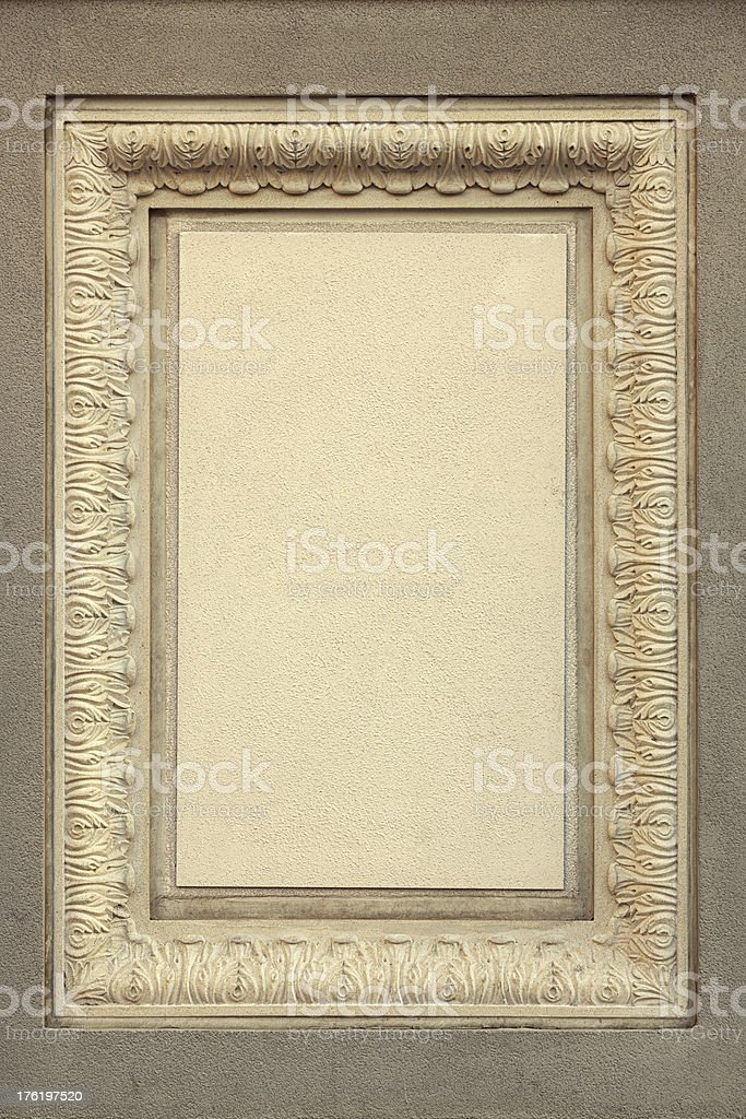 Old relief frame royalty-free stock photo