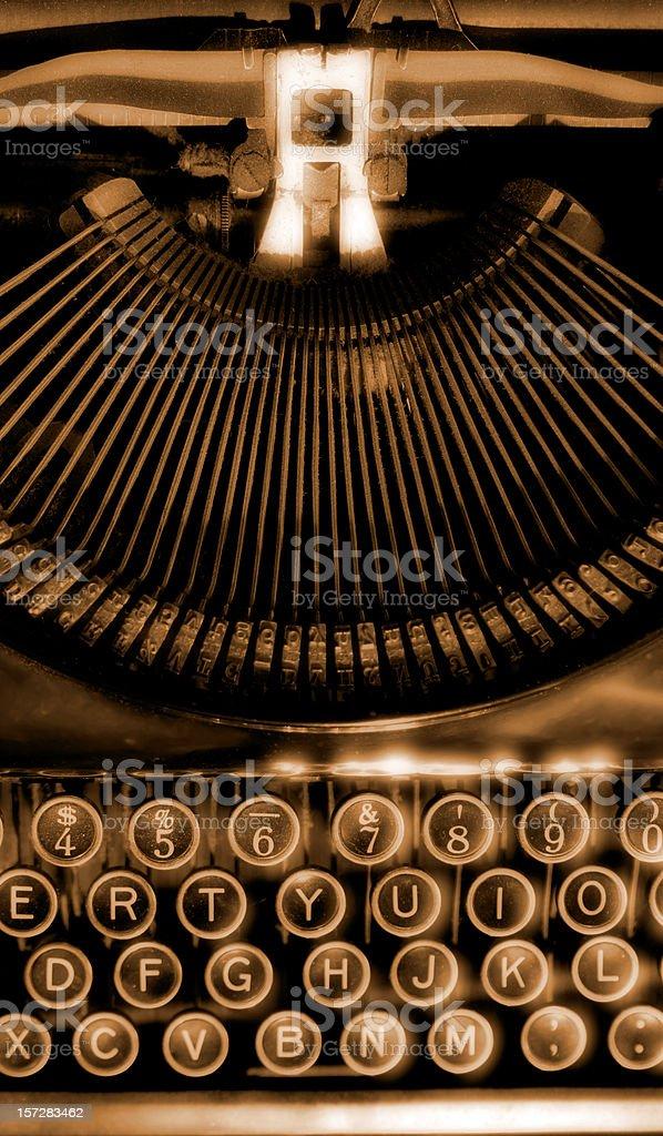 Old Remington Typewriter stock photo
