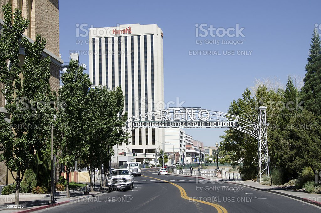 old Reno Arch stock photo