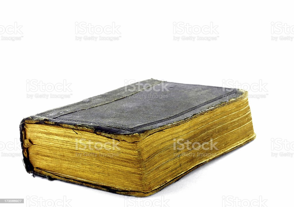 Old repaired bible royalty-free stock photo