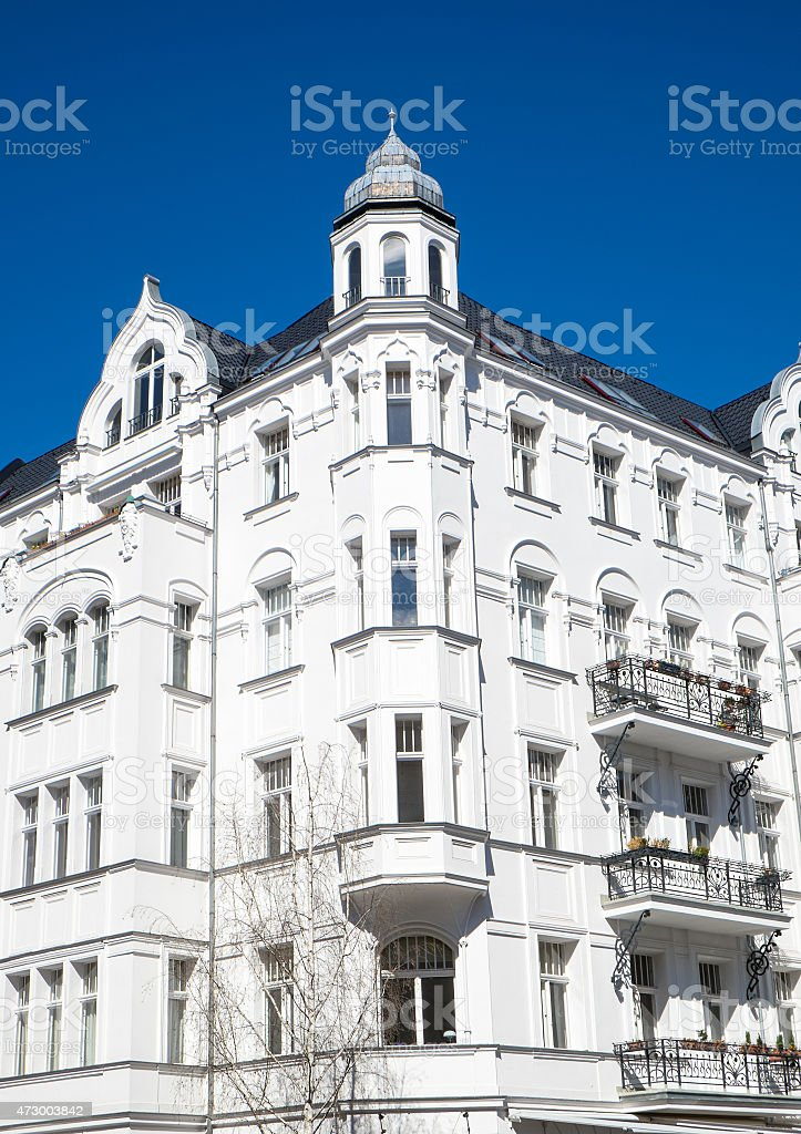 Old residential building in Berlin stock photo