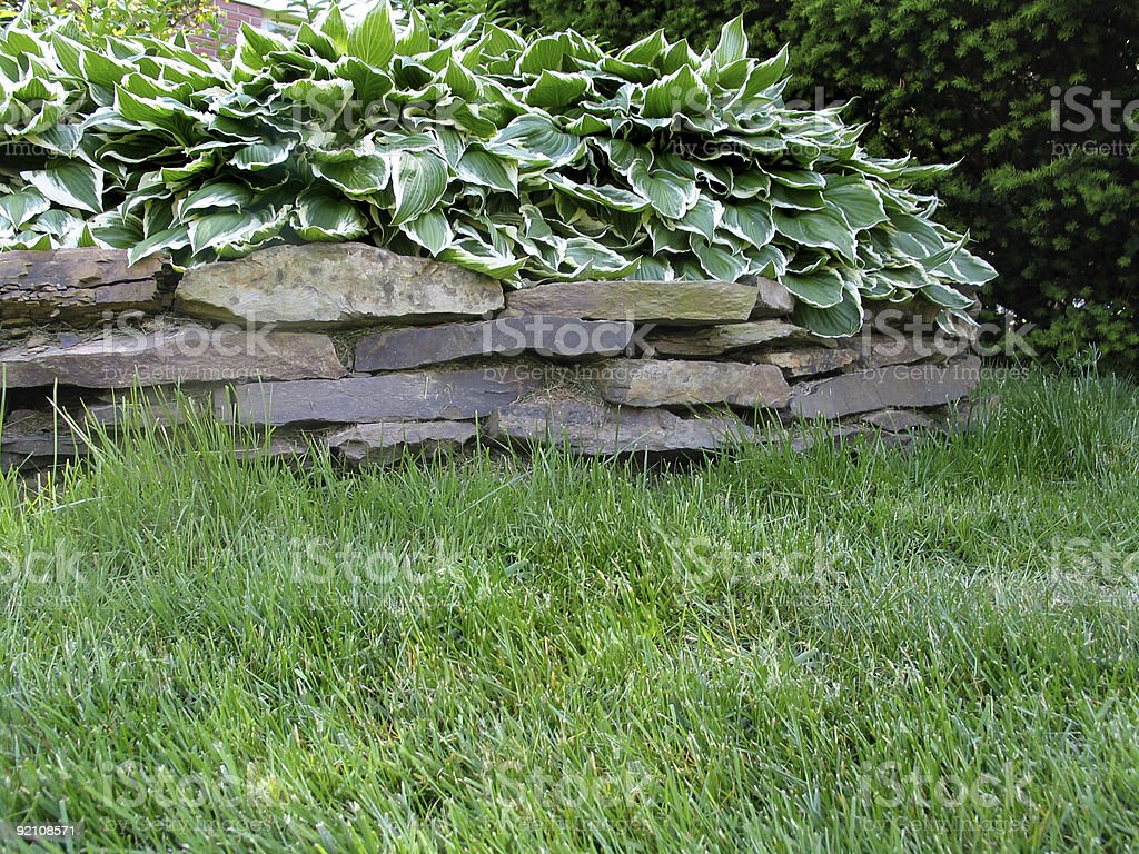 Old Retaining Wall royalty-free stock photo
