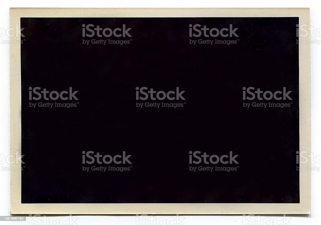 Old Retro Blank photo stock photo