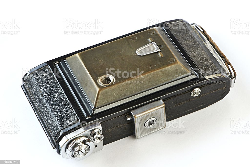 Old retro camera close mode royalty-free stock photo