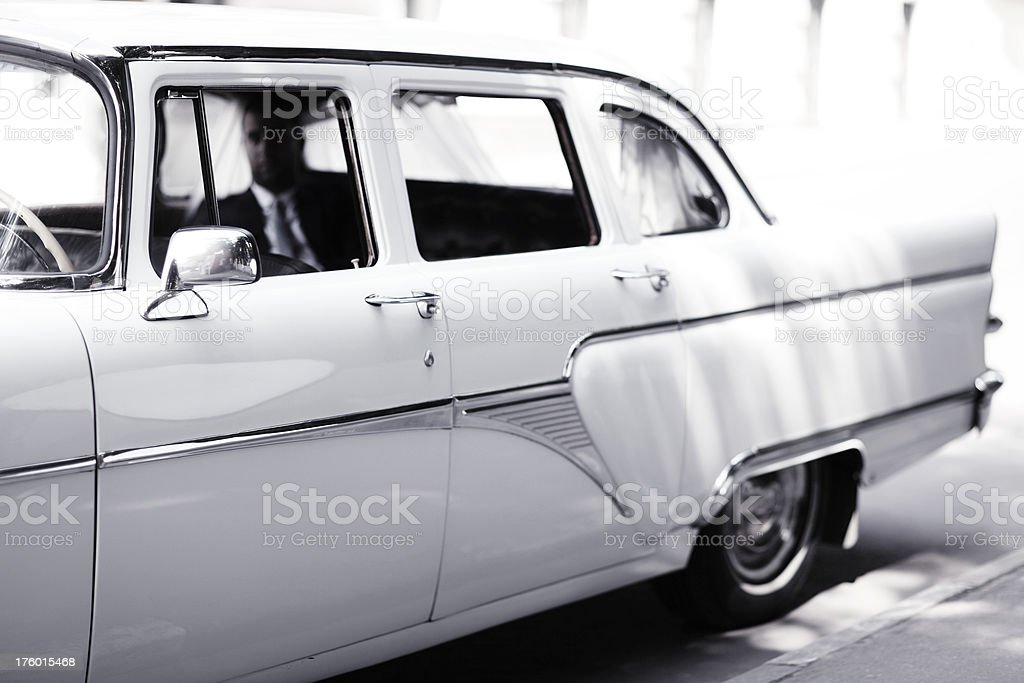 Old retro car. royalty-free stock photo