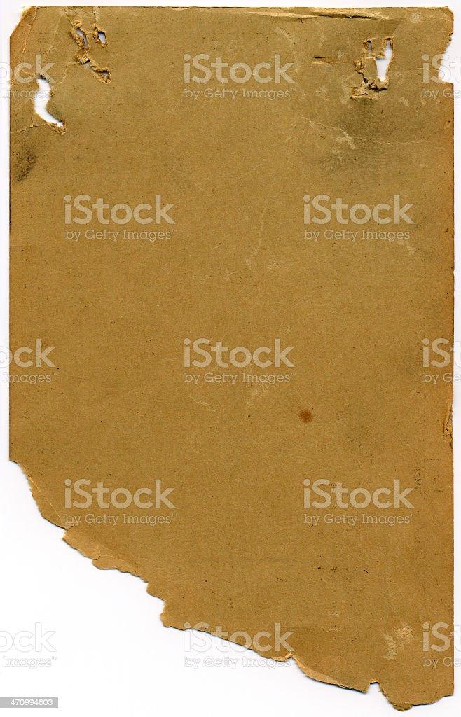 Old, Retro Chart (Back) stock photo