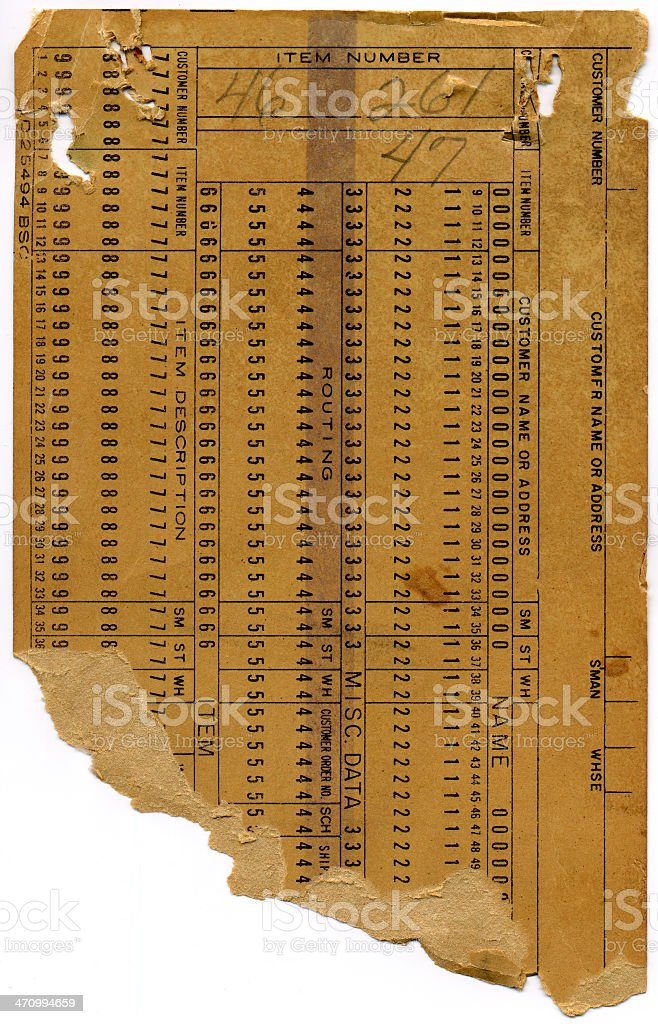 Old, Retro Chart (Front) stock photo