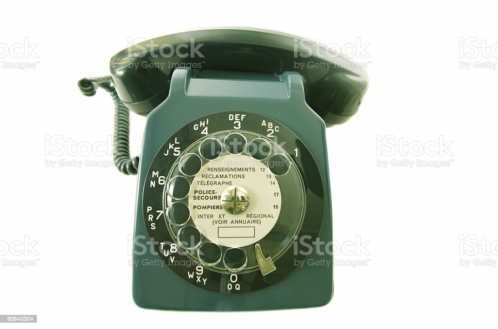 old retro phone royalty-free stock photo