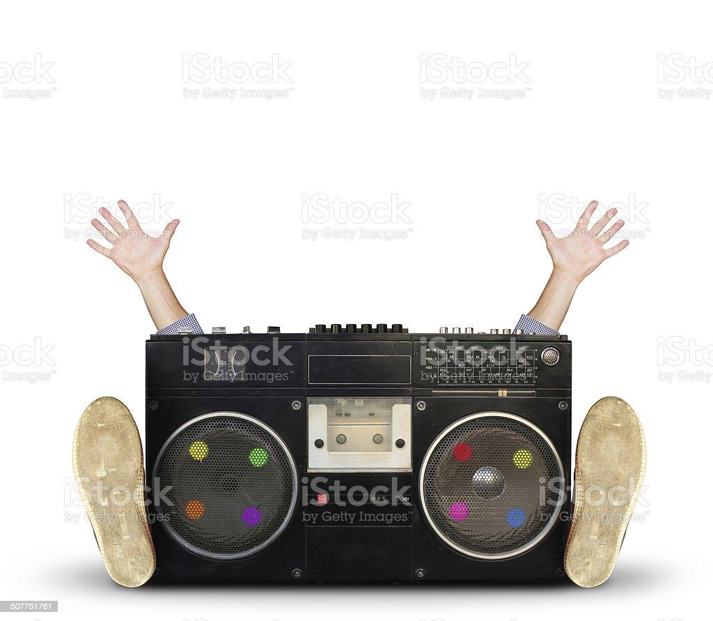Old retro recorder stock photo