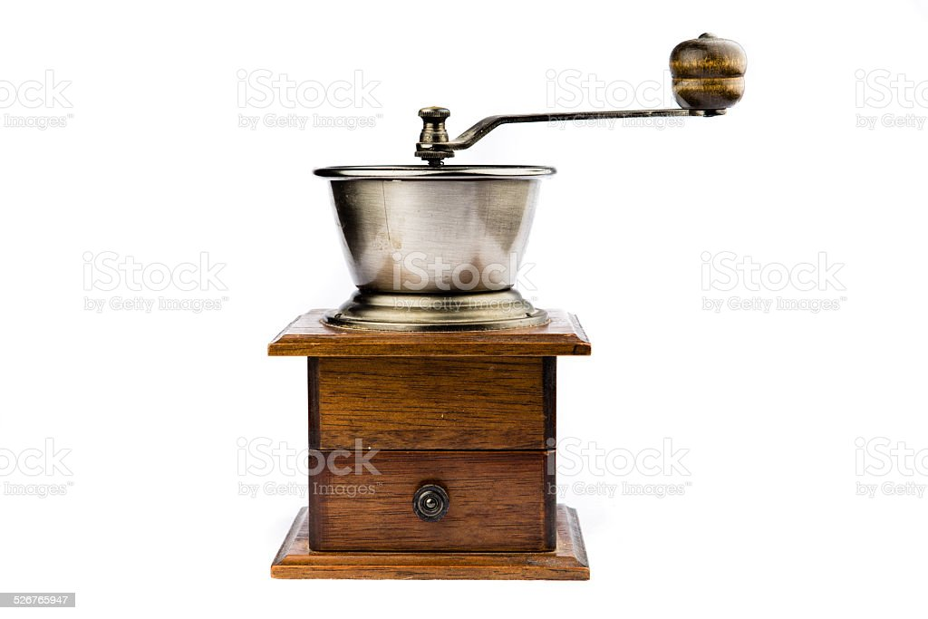 Old Retro Revival Coffee Grinder stock photo