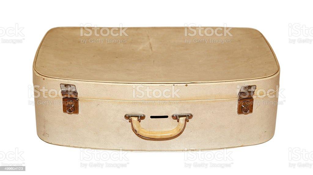 Vecchia valigia retrò (con clipping path) foto stock royalty-free
