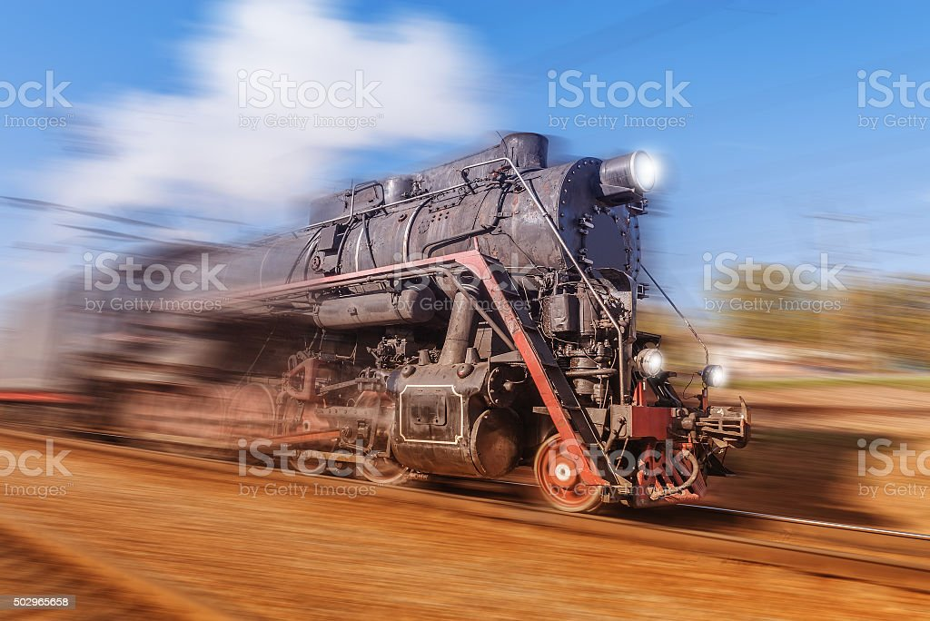 Old retro train. stock photo