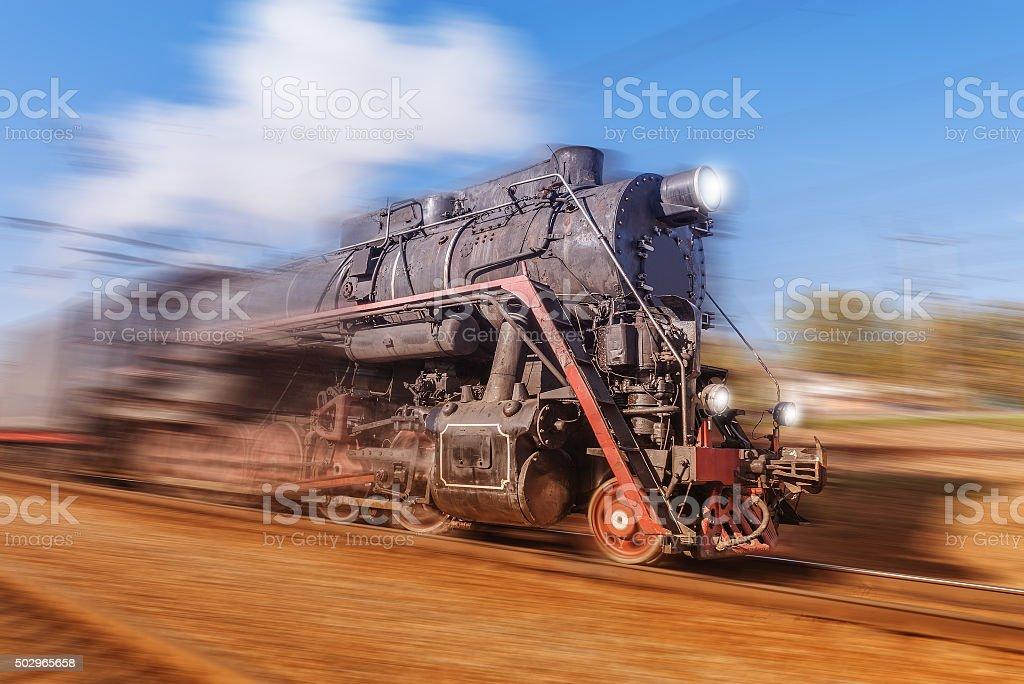 Old retro train. stock photo