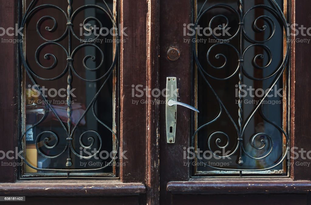 Old Retro Wooden Doors stock photo
