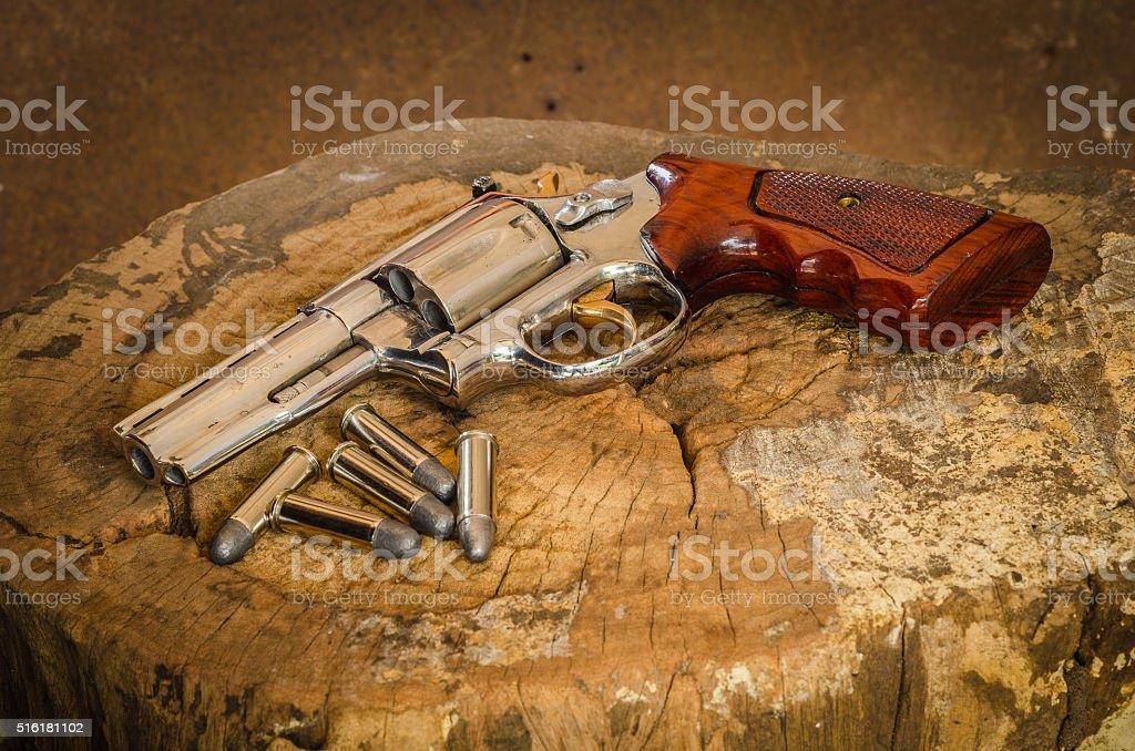 old revolvers stock photo