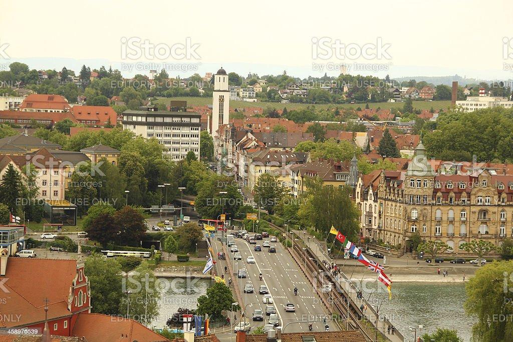 Old Rhine Bridge at Constance royalty-free stock photo